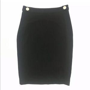 Diane Von Furstenberg Black Pencil Skirt